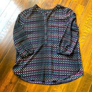 NYDJ Pleat Blouse Back